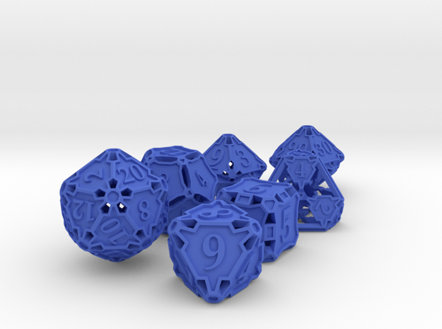 Large Dice Set with Decader 3d printed