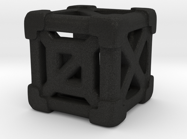 Cage 6-Sided Die - Empty (smallest) 3d printed