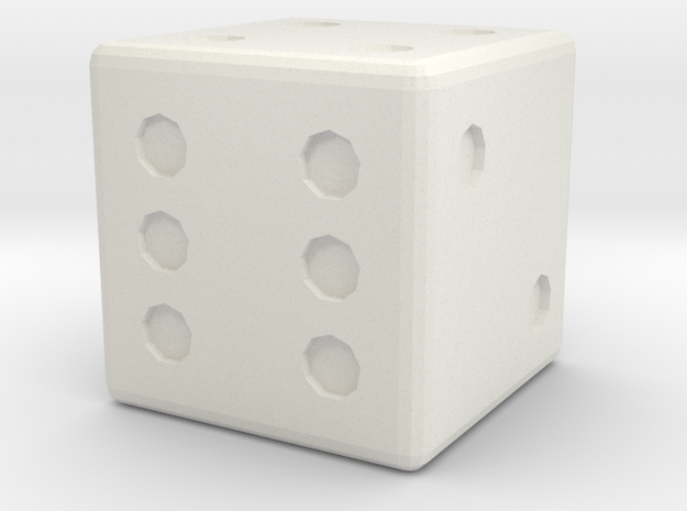 Basic D6 Die .5 inches 3d printed
