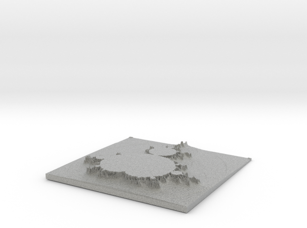 Mandelbrot Relief 3d printed