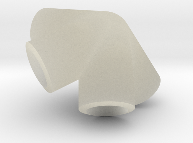 Icosahedron knuckle, for 6mm bars 3d printed