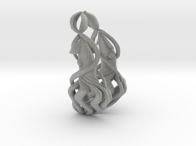 Squid Earrings 3d printed