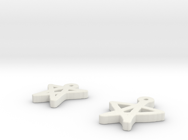 draw-earrings-5.stl 3d printed