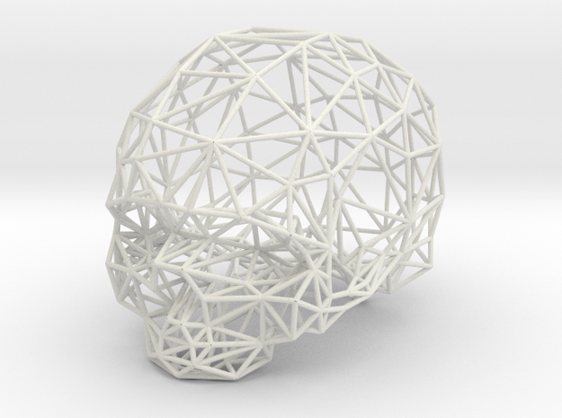 Skull Wireframe 3d printed