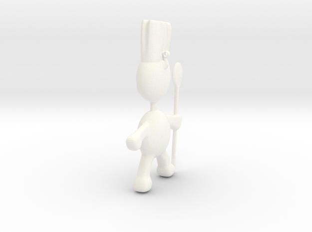 Chef pendant charm 3d printed