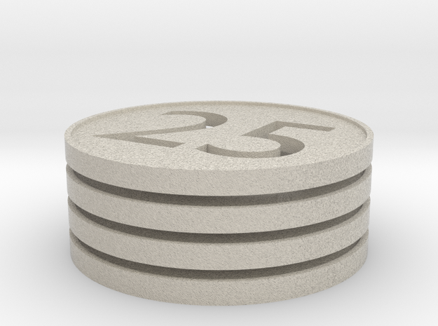 Quarter Simulate Keychain Thing 3d printed
