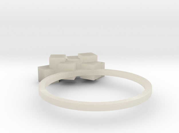 Cubes Ring 01 3d printed