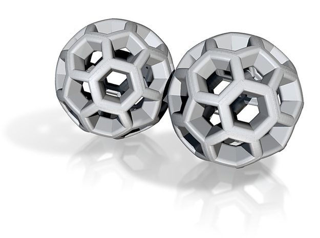 Soccer Ball Earrings 3d printed
