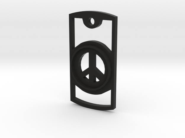 Peace Symbol Necklace 3d printed
