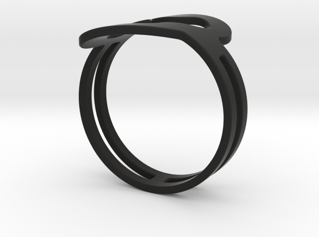Customized fashion Ring 1 3d printed