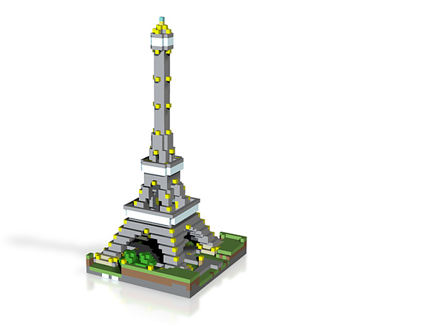 L'Effie, Vokselia's Eiffel Tower, Color $25 3d printed
