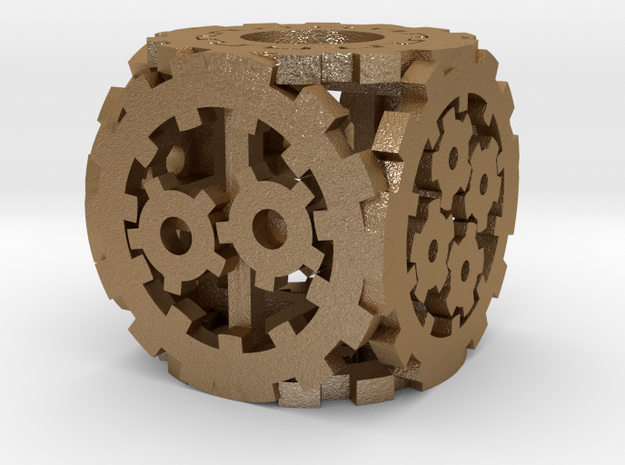 Smaller Steampunk D6 3d printed