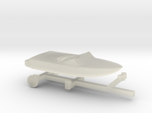 Covered Pleasure Boat - Z scale 3d printed
