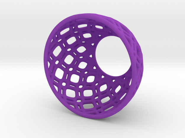 Netted Tea-Light Ring 3d printed