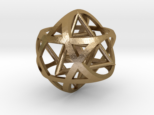Star inside sphere star 3d printed