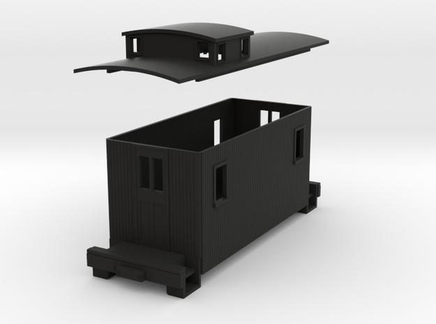 HOn30 Small caboose 3d printed