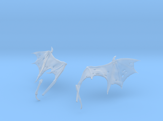 Ragged Monster Wings 3d printed