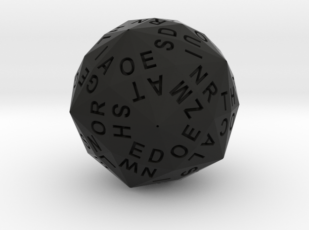 d120 Alphabet Dice 3d printed