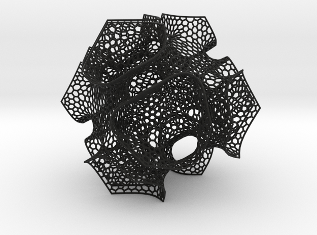 CD triply periodic minimal surface, coarse mesh 3d printed
