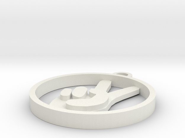Pendant: Peace, Man 3d printed