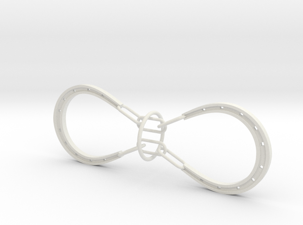 Horse Shoes and Ring puzzle (large) 3d printed