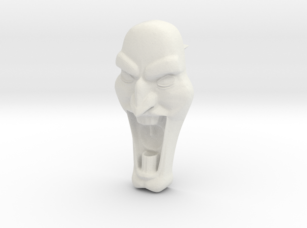Mad Face - Push Pin -v1b 3d printed
