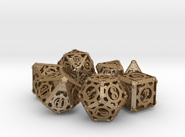 Steampunk Dice Set 3d printed