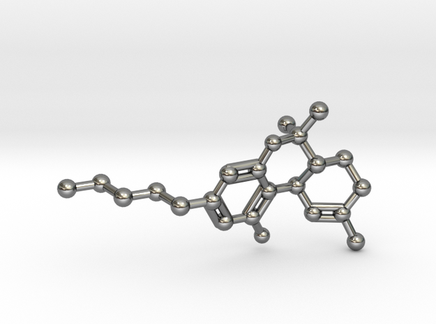 THC Molecule Necklace Keychain 3d printed