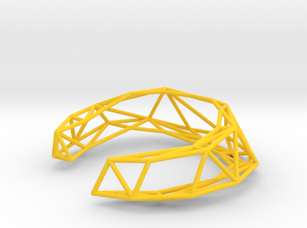Thin Lena Bracelet - Medium (Strong and Flexible) 3d printed