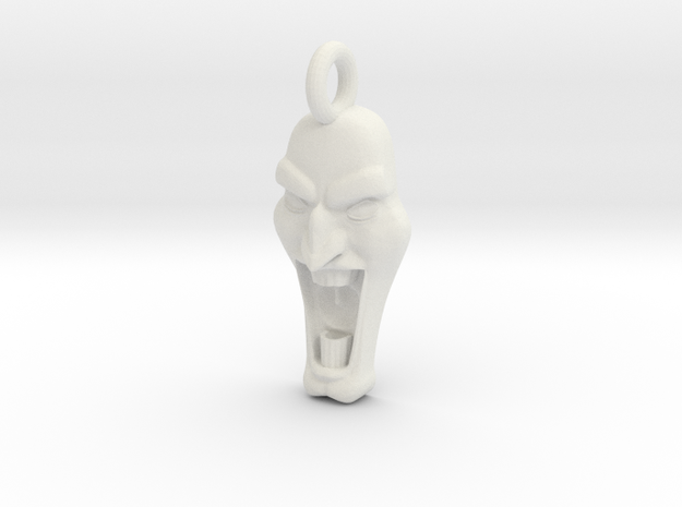 Mad Face - Pendant -v1d Side-Loop 3d printed