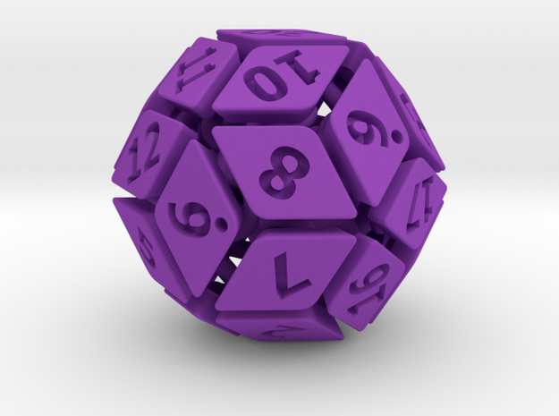 New Class of Dice - Spring-loaded 30-sided die 3d printed