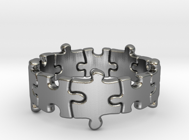 Puzzle Ring 01 size 13 3d printed