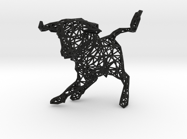"wall decoration ""Bulls"" (h:10 cm/4 In) 3d printed"
