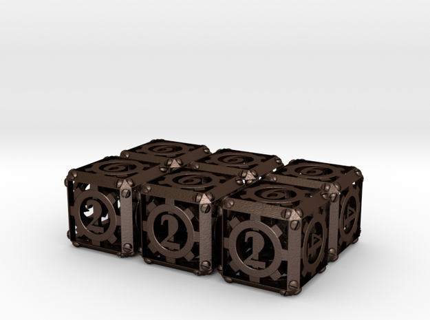 Steampunk 6d6 Set 3d printed