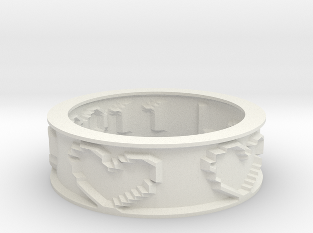 by kelecrea, engraved: Love 25.09.2011 3d printed