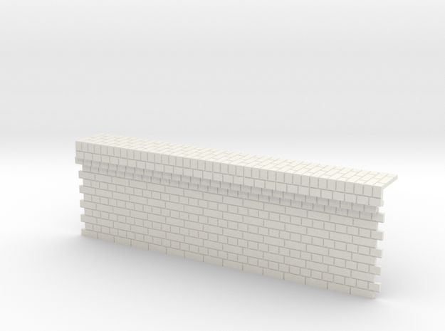7mm English Bond Brick Station Platform Facing Sec 3d printed