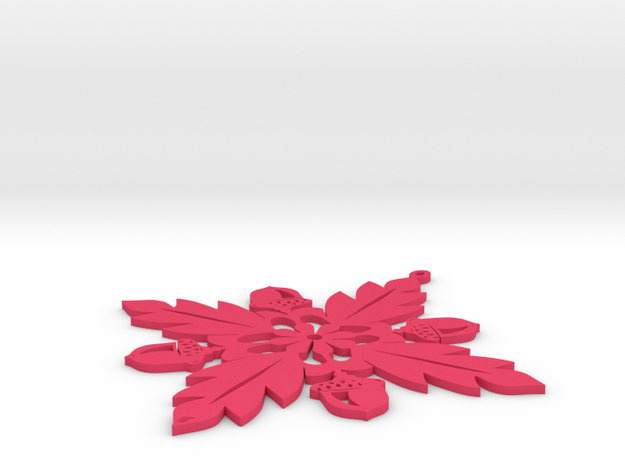 Grand Central Snowflake - Flat 3d printed