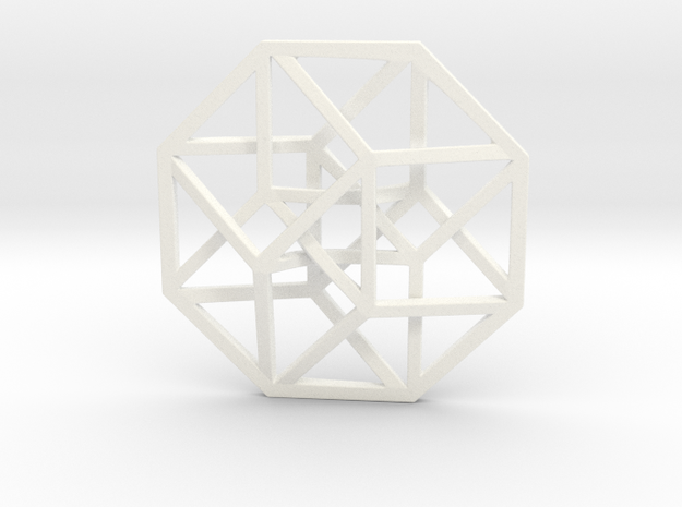 4D Hypercube (Tesseract) small 3d printed