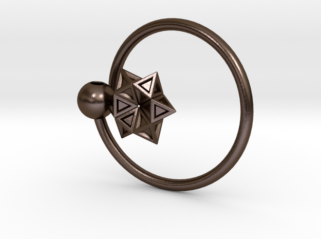 Keyring with Star of David 3d printed