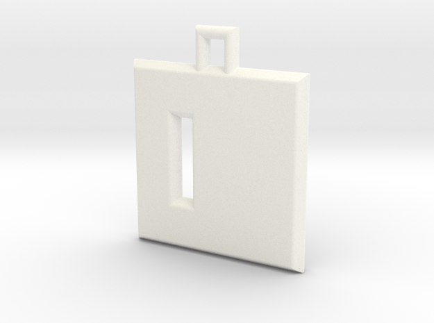 ABC Pendant - D Type - Solid - 24x24x3 mm 3d printed