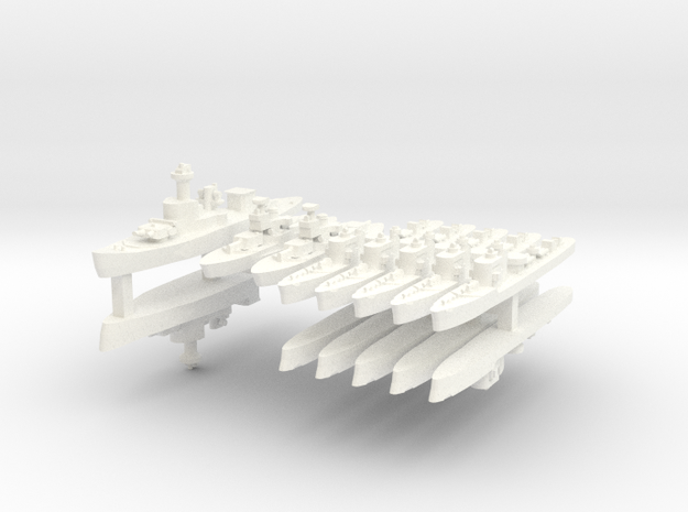 Thai Fleet 1:1800 3d printed