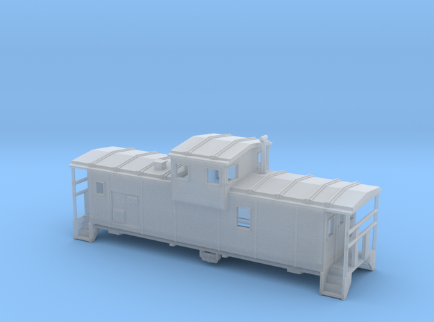DMIR Widevision Caboose Early - Zscale 3d printed