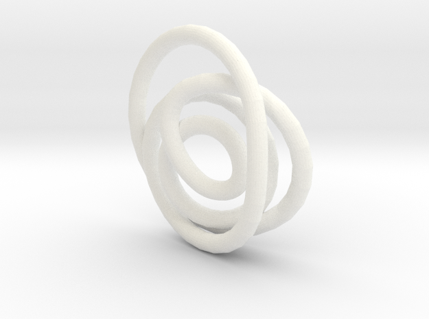 Spiral Knot Pendant. 3d printed