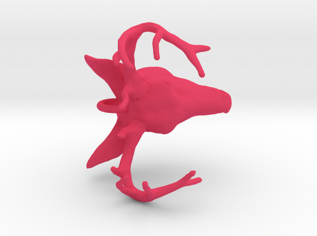 Deer Head Pendant 3d printed
