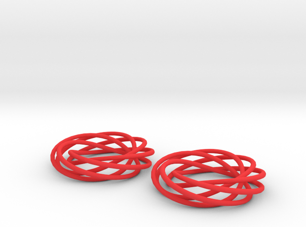 Looped Spiral Earrings 3d printed