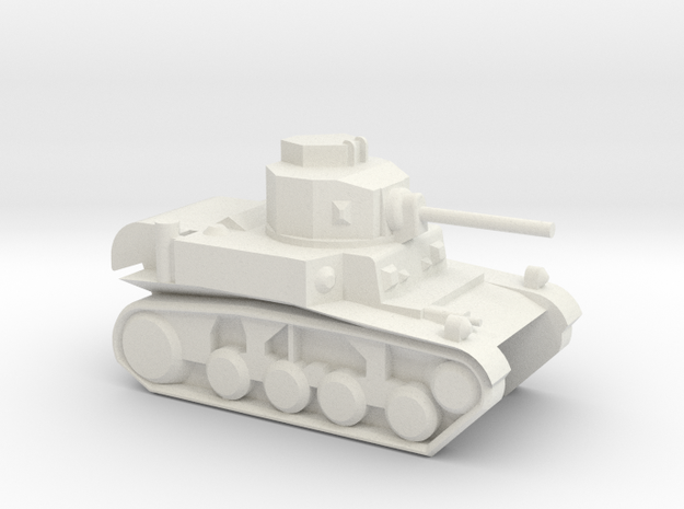 M3 Stuart (6mm, 1:300 scale) 3d printed