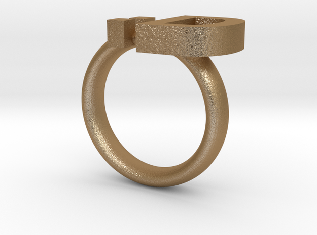 Big Smiley Emoticon Ring :D 3d printed
