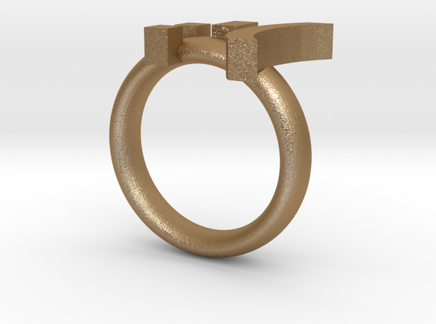 Cry Emoticon Ring :'( 3d printed