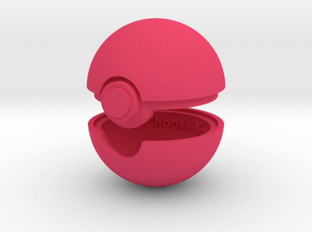 Pokeball Ring Box 3d printed