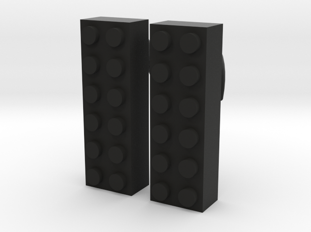 2x6 Brick Earring 0g 3d printed